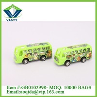 Pull back toy small ben10 bus toy