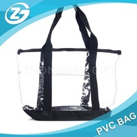Zippered Clear Security Bag with Pocket