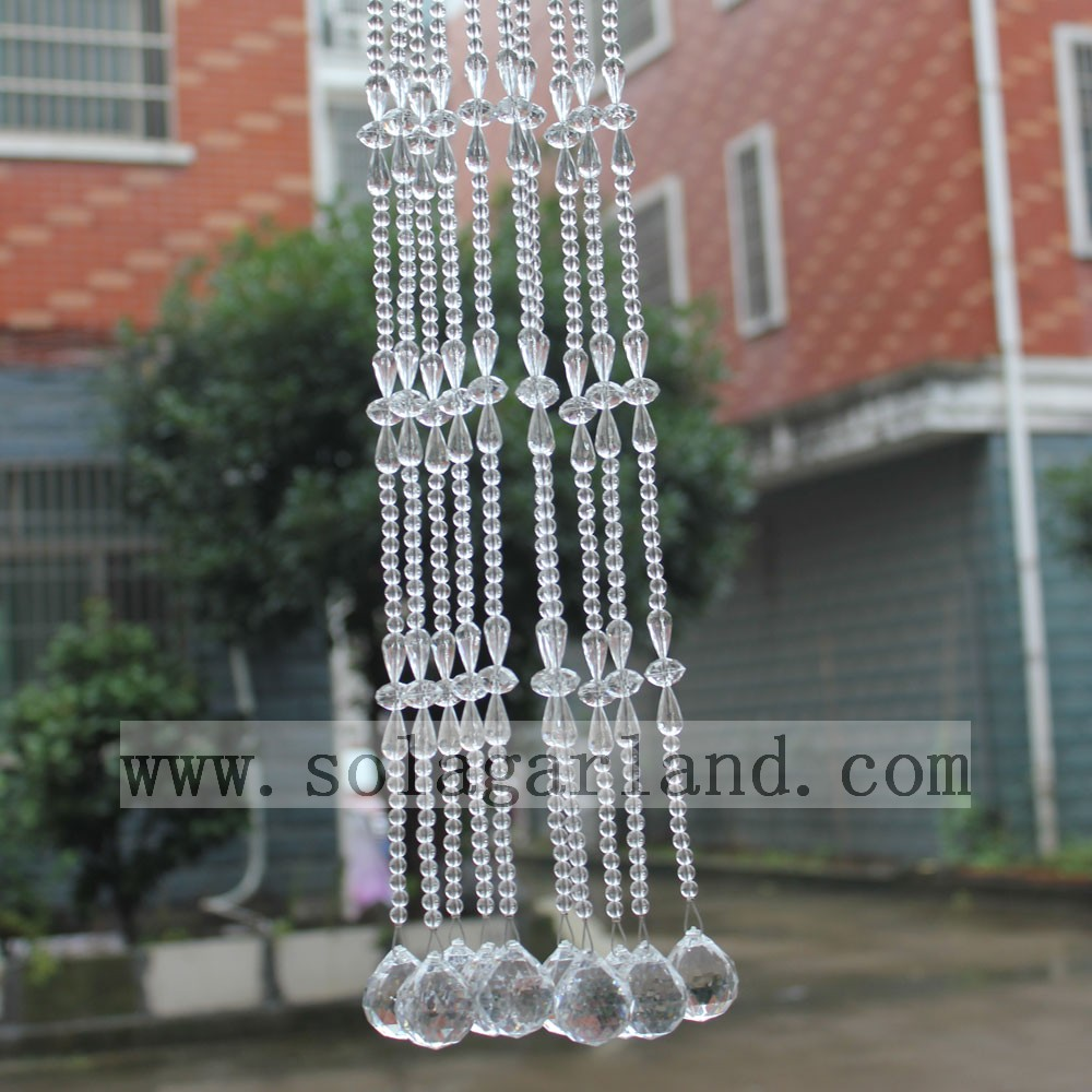 China Manufacture Wholesale Window Curtains Latest Luxury Acrylic Crystal Bead Curtain