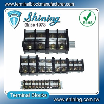 TE-Series Insulated Plastic Assembly 35mm Rail Mount Terminal Block