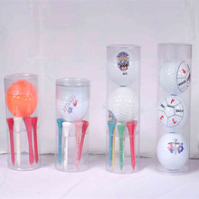 Golf balls plastic box packaging,PVC cylinder box for golf ball