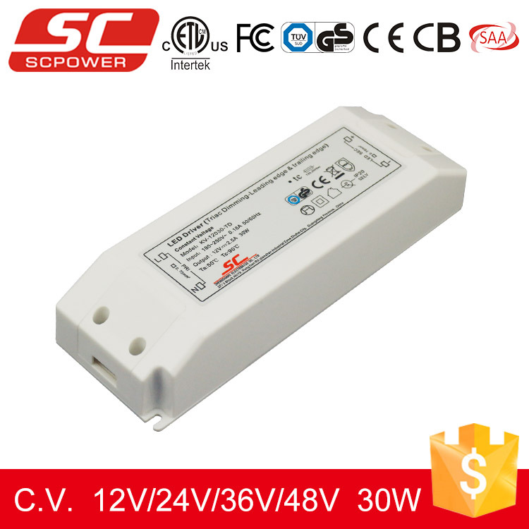 Triac constant voltege led driver dimmable 220v 30w