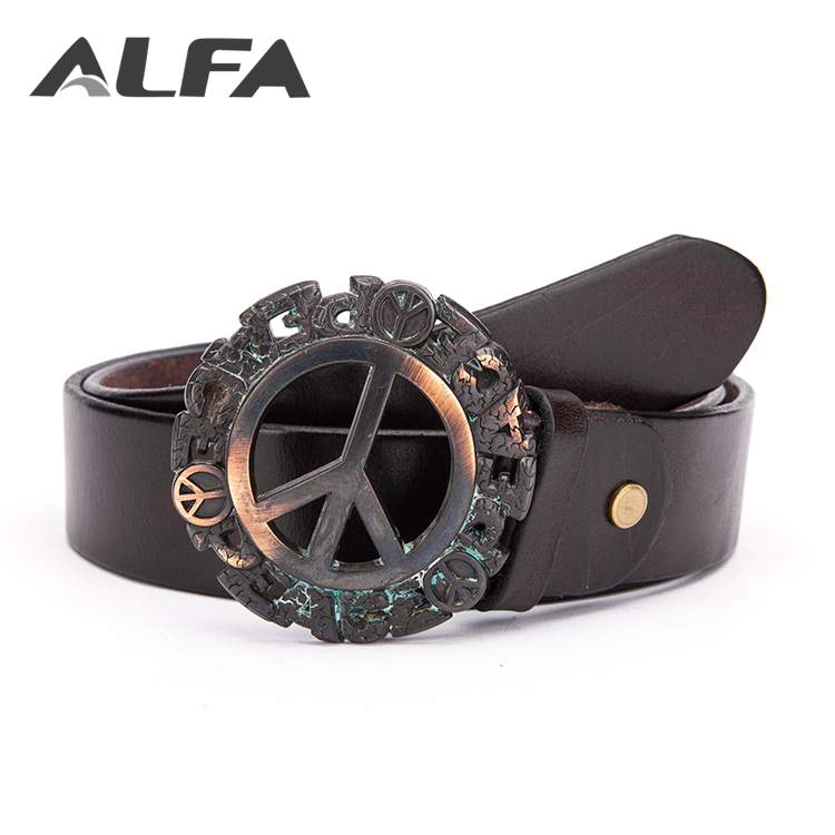 Alfa Quality Products 40MM Cowboy Genuine Full Grain Cowhide Leather Belts For Men