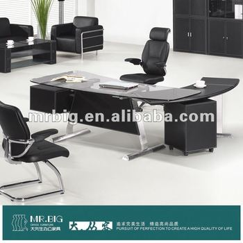 MODERN MDF+STAINLESS STEEL LEG OFFICE TABLE