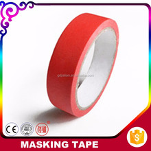 Packaging & Printing Decoration Use Red Color Crepe Paper Spray Masking Tape