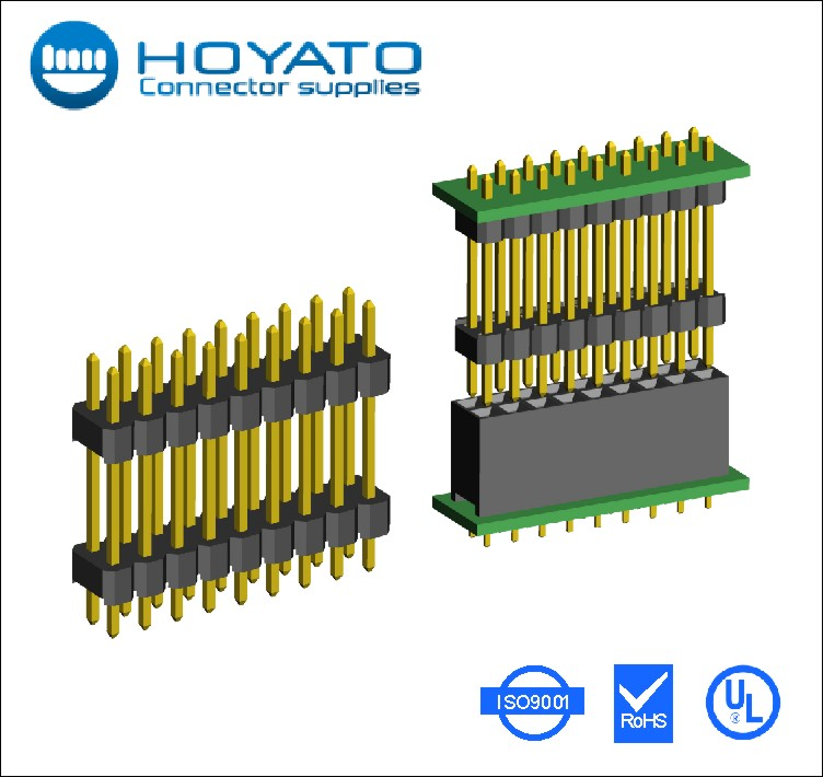 Electronic component, small 2.54mm plastic screen touch/cpu connector pin header