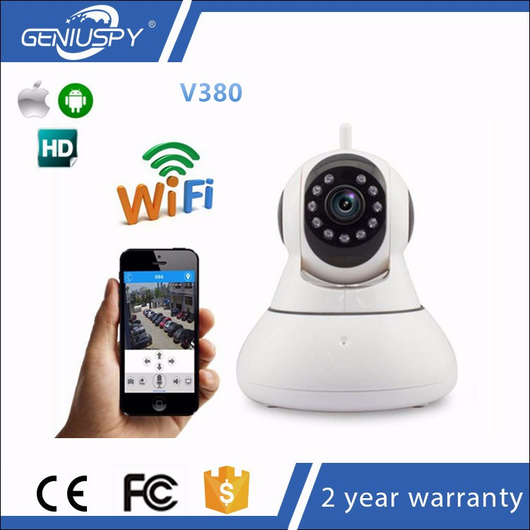 Smart Home P2P Wireless Network Mobile Phone Monitor Megapixel WiFi V380 IP Camera