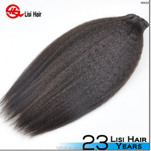 YBY Hot sale 24inch natural straight white snow color virgin brazilian human hair extensions