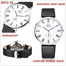 2017 italian top brand private label wrist watch lighter minimalist men watch 2 blue hands japan quartz oem hand watches leather