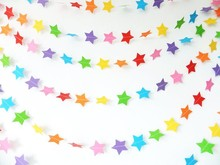 stars shape artificial wedding paper garland