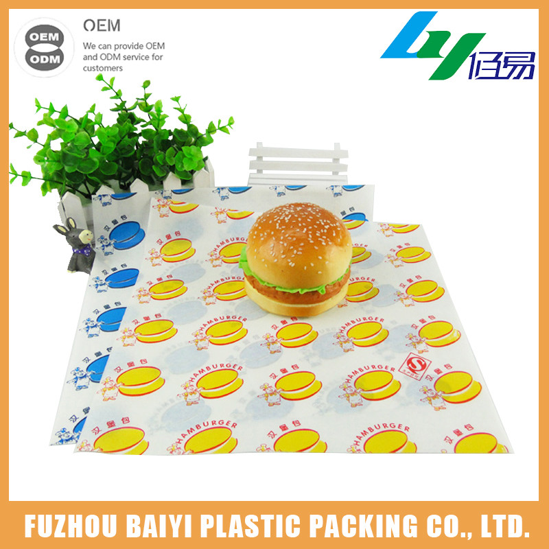 Manufacturer China Reasonable Price Custom Logo Burger Wraps