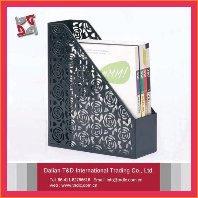 factory supply new curved metal mesh office desktop a4 file folder