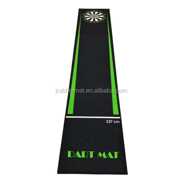 Custom printed nylon surface anti-slip dart mat