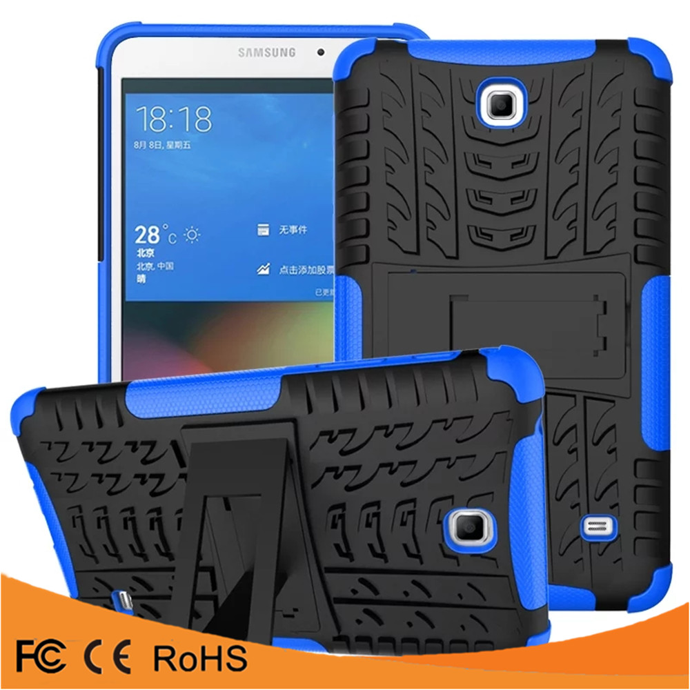 Alibaba Express Popular shockproof kickstand PC TPU mobile phone case for Samsung TAB4 T230 Ipad