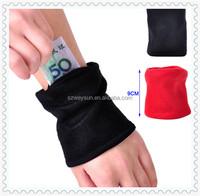 New Wristband Pouch Running Wallet Fleece Zipper Key Coin Money Case Pocket Storage Handbag for Unisex Travel Outdoor Sports Gym