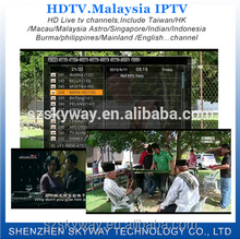 2015 Hot Selling Malaysia IPTV HDTV A package 361+ channels iptv apk Account with Singapore Malaysia Hongkong chinese English