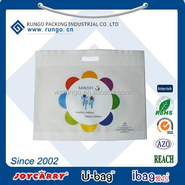 Eco Heat Transfer Print non woven polypropylene die cut Tote Bag, non-woven bag