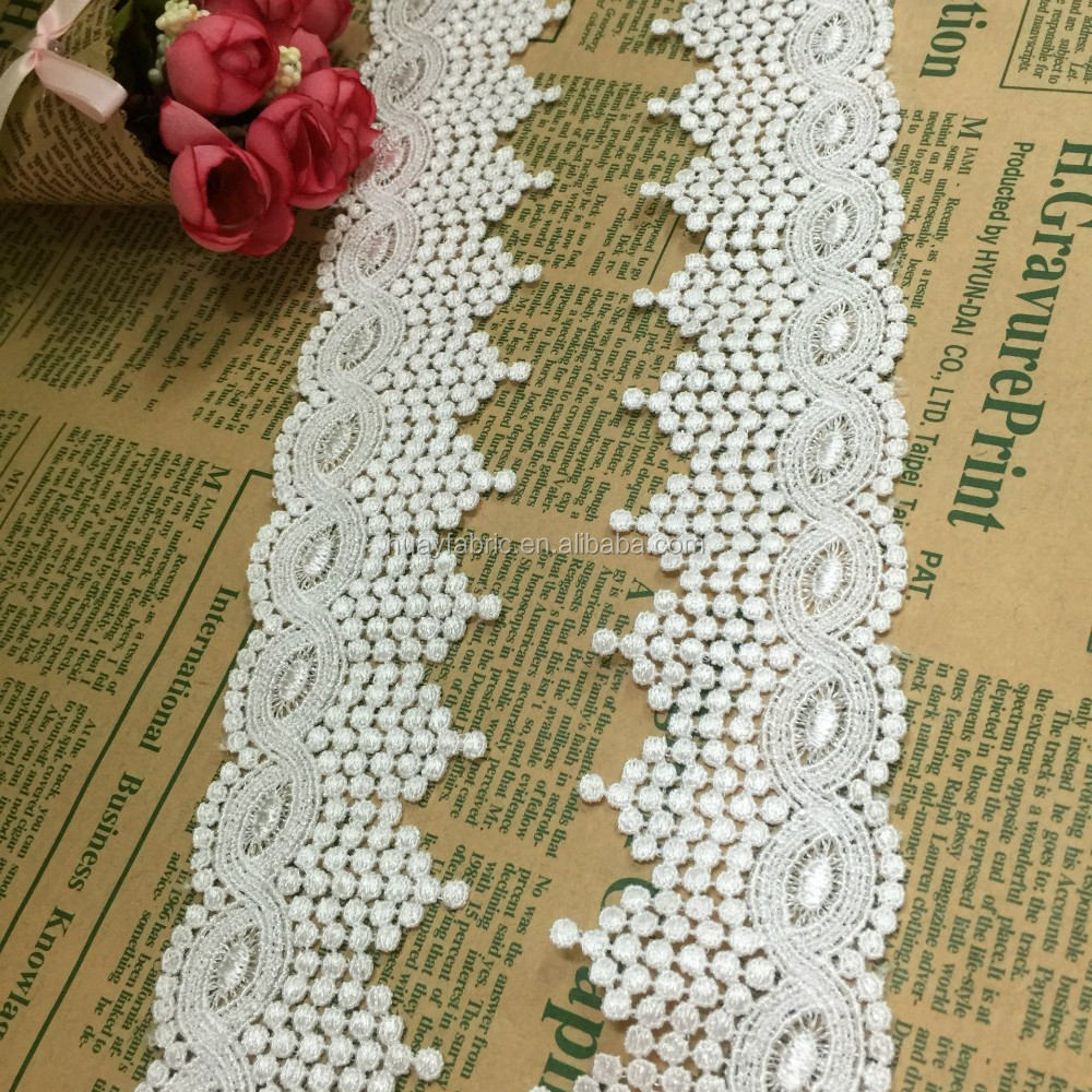 2016 the most professional Polyester embroidery manufacture souble cotton saree border decorative lace trim