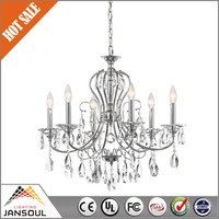 chinese style chrome glass bed room chandelier