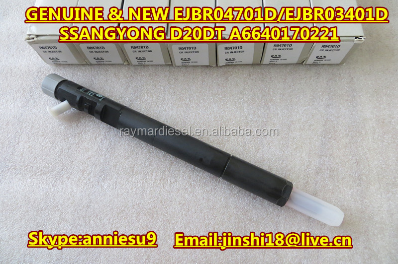 Original and New Common Rail Injector EJBR04701D/R04701D/EJBR03401D/R03401D for SSANGYONG D20DT A6640170221