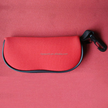 Custom Printing 3mm Thick Neoprene Glasses Case/pouch With Hook