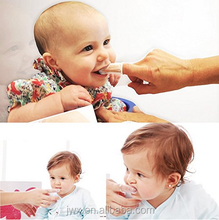 food grade FDA soft baby silicone toothbrush finger transparent