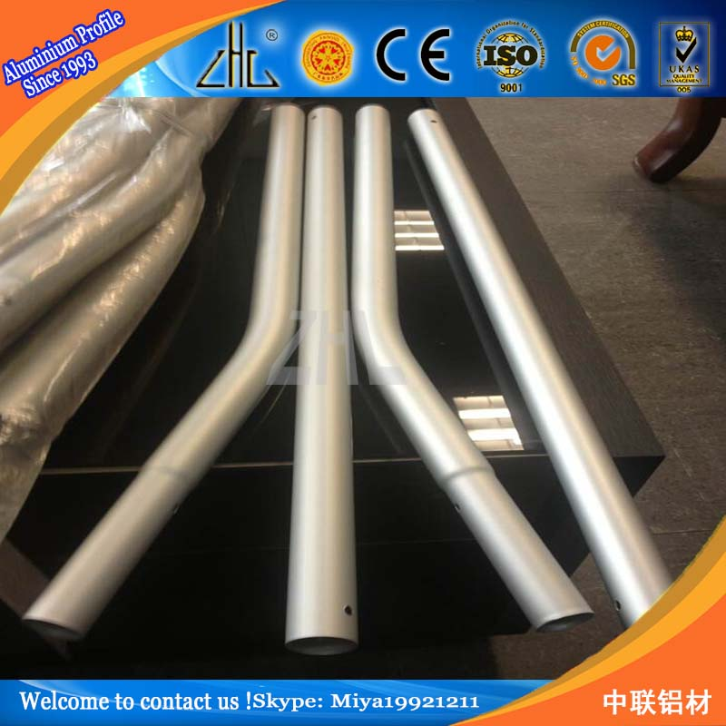 Alibaba china supplier bend rectangular aluminum tube / Customized square telescopic pole