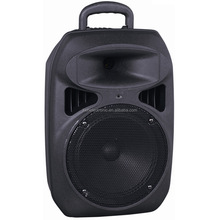 Bluetooth plastic portable trolley speaker with Mega bass 15 inch /FM /USB/SD/remote