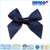 China factory outlet high quality bright red polyester single-face bows hair