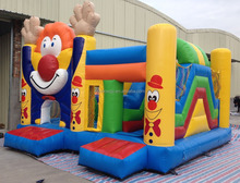 2016 Commercial Inflatable Bouncy Castles With Cartoon,Inflatable Clown Jumping Bouncer For Adult