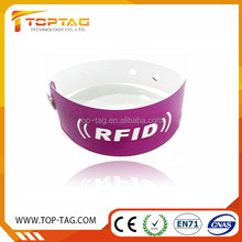 Custom Logo NFC Paper/PVC Wristband one time use disposable rfid wristband events bracelet