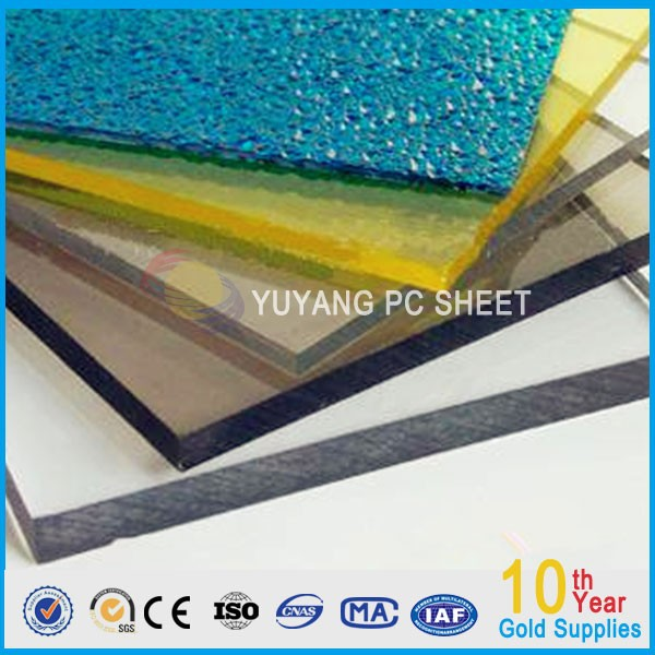 embossed polycarbonate sheet/pc panel for roofing covering /decorative building materials