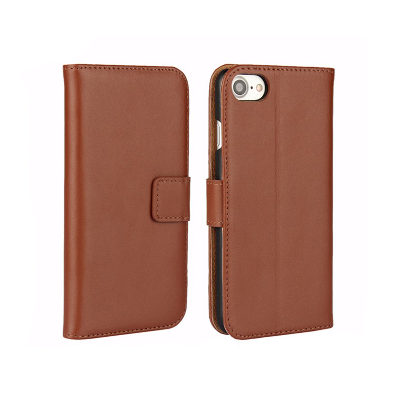 Top Selling Genuine Leather Stand Flip Cover Case For iPhone 7 Leather Wallet Case With Card Slots Bulk Buy From China
