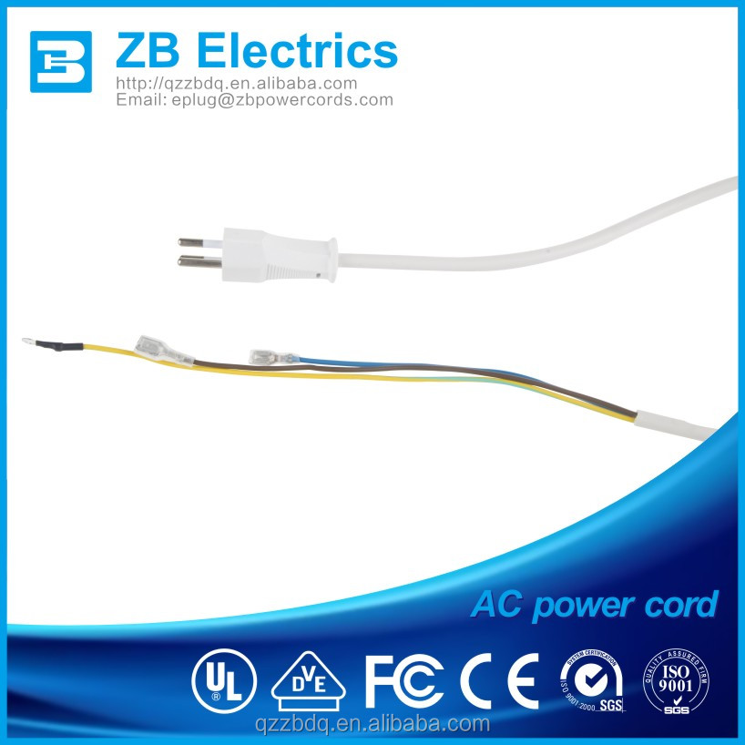 Brazil standard 3 pins power cord rated10A/250V 300-500V with electrical lead