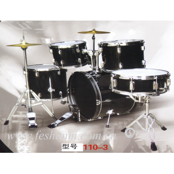 110-3 Factory Price China Musical Instrument Unique Design Jazz Drum Set