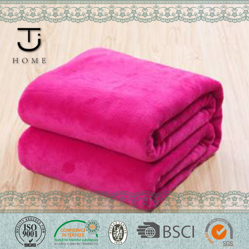 breathable coral blankets polyester