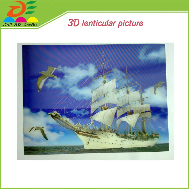 eco-freindly wedding decoration&gift PP/PET 3d picture animal girl sex