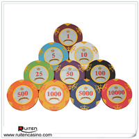 New Style 14g Two Tone Crown Clay Chips Casino Poker Chip
