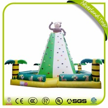 Factory price customized inflatable rock climbing wall , inflatable climbing wall for sale
