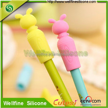 Creative fashion silicone cap of a pen