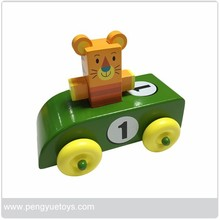 Wooden vehicle set like truck,tiger in the car