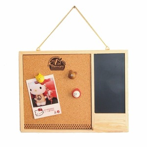 Wooden Framed Cork Pin Notice Memo Board 280mm*22mm For Office Home Kitchen