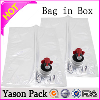 Yason 5l wine bag bag in box packaging custom printed disposable bibs for wine