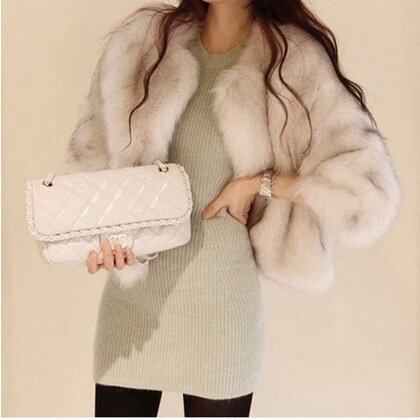 New design faux shearling coat faux sheepskin coat women environmental winter faux fox fur coat