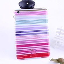 Cute girls' style striped pattern PC hard cover IMD case for Apple Ipad mini new apple parts