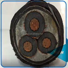 22kv High Tension Underground Cable SWA armoured Electrical power cable size