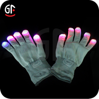Alibaba French Led Color Changing Gloves Flashionable