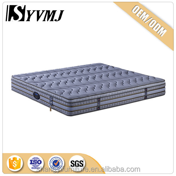 soft cotton fabric cover pocket spring mattress