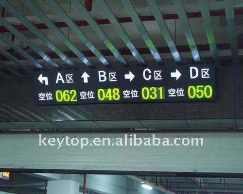 3 digit 1 arrow led display for Parking Guidance System CE approved