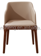 Danish artificial leather grace dining chair mader located in China/Modern Pu Leather Dinner Chair